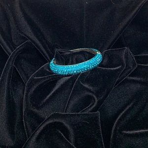 Turquoise Swarovski Crystal Bangle Bracelet
